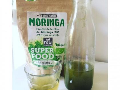Ma boisson rafraîchissante et énergisante de la journée: thé glacé au citron vert et moringa!#healthy #refreshing #moringa